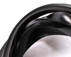 Seitenhaubengummi links&rechts, für Vespa 125 VNA-TS:150 VBA-T4:160 GS:180 SS:PX80-200:PE:Lusso:98:MY:T5, L 1200:1800mm, B 18mm, dick, schwarz