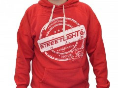 Hoody Streetlights Original, unzipped, rot
