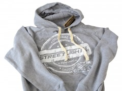 Hoody Streetlights Original, unzipped, hell grau