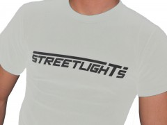 T-Shirt Streetlights (Men, Weiss)