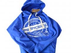 Hoody Streetlights Original, unzipped, blau