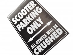 Schild Scooter parking only