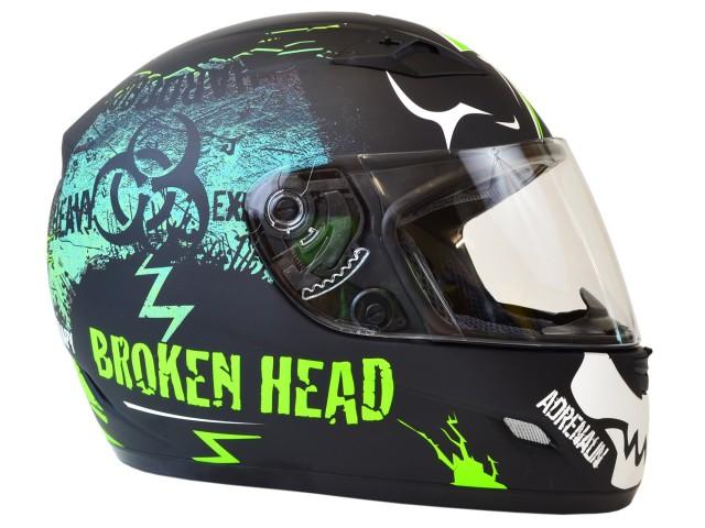 helm broken head adrenalin therapy schwarz gr n