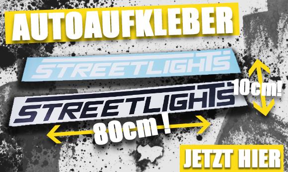 Streetlights Autoaufkleber in Schwarz oder Weiss